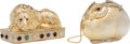 Luxury Accessories:Bags, Judith Leiber Set of Two: Lion & Rabbit Minaudieres. Condition: 2. See Extended Condition Report for Sizes.... ... (Total: 2 Items)