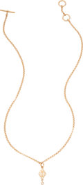 "Luxury Accessories:Accessories, Hermès Rose Gold & Diamond H Gambade Short Necklace. Condition: 1. 16"" Length. ..."