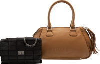 Chanel Set of Two: Brown & Black Shoulder Bags Condition: 3 See Extended Condition Report for Siz