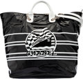"Luxury Accessories:Bags, Chanel Limited Edition Black & White Vinyl ""La Pausa"" Large Shopping Tote Bag. Condition: 1. 16"" Width x 15"" Height x ..."