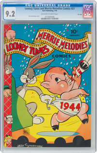 Looney Tunes and Merrie Melodies Comics #27 File Copy (Dell, 1944) CGC NM- 9.2 Off-white to white pages