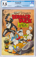 Golden Age (1938-1955):Cartoon Character, Four Color #159 Donald Duck (Dell, 1947) CGC VF- 7.5 Off-white pages....