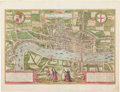 Books:Maps & Atlases, [London]. Georg Braun and Franz Hogenberg. Londinum, feracissimi Angliae Regni metropolis. [Cologne: after 1572]...