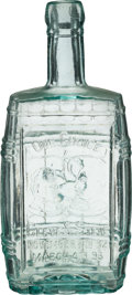 Political:3D & Other Display (pre-1896), Cleveland & Stevenson: Jugate Inaugural Whiskey Flask.. ...
