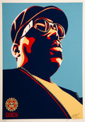 Prints & Multiples:Contemporary, Shepard Fairey (b. 1970). Biggie Blue, 2004. Screenprint in colors on speckled cream paper. 24 x 18 inches (61 x 45.7 cm...
