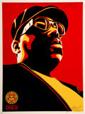 Prints & Multiples:Contemporary, Shepard Fairey (b. 1970). Biggie Red, 2004. Screenprint in colors on speckled cream paper. 24 x 18 inches (61 x 45.7 cm)...
