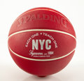Collectible:Contemporary, Supreme X Spalding. Basketball (Red), 2017. Rubber. 9 inches (22.9 cm). Produced by Spalding, USA. ...