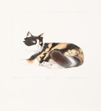 Beth Van Hoesen (1926-2010) Lily of Noe, 1985 Lithograph in colors on wove paper 23 x 21 inches (