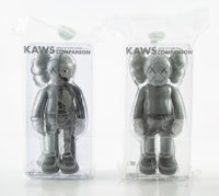 KAWS (b. 1974) Companion, set of eight, 2016 Painted cast vinyl 10-1/2 x 4-1/2 x 2-1/2 inches (26... (Total: 8)