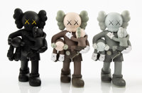 KAWS (b. 1974) Clean Slate, set of three, 2018 Painted cast vinyl 14 x 8 x 8 inches (35.6 x 20.3 ... (Total: 3)