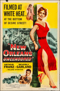 "Movie Posters:Crime, New Orleans Uncensored (Columbia, 1955). Folded, Fine/Very Fine.One Sheet (27"" X 41""). Crime.. ..."