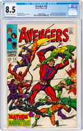 Silver Age (1956-1969):Superhero, The Avengers #55 (Marvel, 1968) CGC VF+ 8.5 Off-white to white pages....