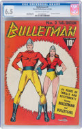 Golden Age (1938-1955):Superhero, Bulletman #2 (Fawcett Publications, 1941) CGC FN+ 6.5 Off-white to white pages....