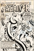 Original Comic Art:Covers, Sal Buscema and Mike Esposito Sub-Mariner #27 Cover Original Art (Marvel, 1970)....