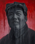 Paintings:Contemporary, Sheng Qi (Chinese, b. 1965). Mao-Red and Black, 2007. Acrylic on canvas. 39 x 31-1/2 inches (99.1 x 80.0 cm). Signed and...