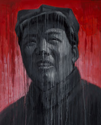 Sheng Qi (Chinese, b. 1965) Mao-Red and Black, 2007 Acrylic on canvas 39 x 31-1/2 inches (99.1 x