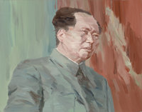 Xiao Bo (Chinese, b. 1975) Speech (1 out of a series of 8) Acrylic on canvas 28-1/4 x 36 inches (