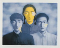 Zhang Xiaogang (Chinese, b. 1958) Big Family No. 8 from the series Bloodline, 2003 Lithog