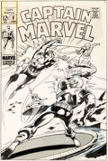 Original Comic Art:Covers, Gene Colan and Vince Colletta Captain Marvel #9 Cover Original Art (Marvel, 1969)....