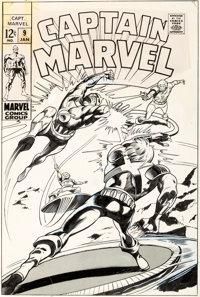 Gene Colan and Vince Colletta Captain Marvel #9 Cover Original Art (Marvel, 1969)