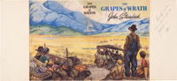 [John Steinbeck]. Proof of the Dust Jacket for First Edition of The Grapes of Wrath