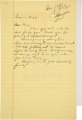 Autographs:Authors, John Steinbeck Autograph Letter Unsigned with Related Letter. ... (Total: 2 )