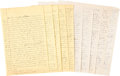 Autographs:Authors, John Steinbeck Autograph Manuscript Unsigned with Carbon Copy.... (Total: 2 Items)
