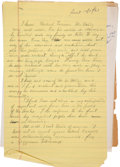 Autographs:Authors, John Steinbeck Autograph Letter Draft Unsigned with Related Letters....