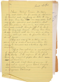 John Steinbeck Autograph Letter Draft Unsigned with Related Letters