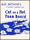 "Movie Posters:Sports, Cat on a Hot Foam Board (Bud Browne, 1959). Fine/Very Fine. Window Card (10.75"" X 14""). Sports.. ..."