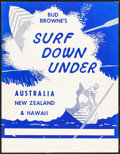"""Movie Posters:Sports, Surf Down Under (Bud Browne, 1958). Very Fine. Poster (10.75"""" X 13.75""""). Sports.. ..."""