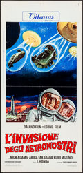Movie Posters:Science Fiction, Invasion of the Astro-Monster (Titanus, 1970). Folded, Ver...