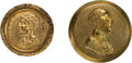 Political:Tokens & Medals, Henry Clay: Pair of Shank Clothing Buttons.... (Total: 2 Items)