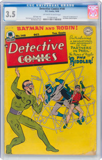 Detective Comics #140 (DC, 1948) CGC VG- 3.5 Off-white to white pages