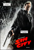 "Movie Posters:Crime, Sin City (Dimension, 2005). Rolled, Very Fine-. One Sheets (2) (27""X 40"") DS Advance, Bruce Willis Style & Clive Owe..."