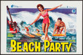 Movie Posters:Comedy, Beach Party (General Films, 1963). Rolled, Very Fine.
