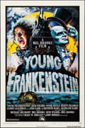 "Movie Posters:Comedy, Young Frankenstein (20th Century Fox, 1974). Folded, Very Fine-.Autographed One Sheet (27"" X 41""). Style B, John Alv..."