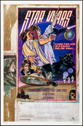 """Movie Posters:Science Fiction, Star Wars (20th Century Fox, 1977). Rolled, Very Fine. AutographedOne Sheet (27"""" X 41"""") Style D, Charles White III a..."""
