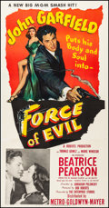 Movie Posters:Film Noir, Force of Evil (MGM, 1948). Fine/Very Fine on Linen.