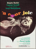 "Movie Posters:Foreign, Two Weeks in September (Paramount, 1967). Folded, Very Fine. FrenchMoyenne (22.75"" X 31.25""). Foreign.. ..."