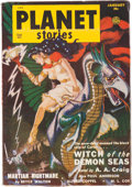 Pulps:Science Fiction, Planet Stories V4#10 Yakima Pedigree (Fiction House, 1951) Condition: VF....