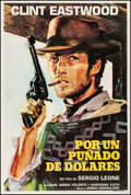 """Movie Posters:Western, A Fistful of Dollars (United Artist, R-1970s). Very Fine- on Linen.Argentinean One Sheet (29"""" X 43""""). Western.. ....."""