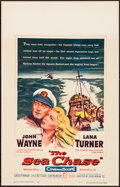 "Movie Posters:War, The Sea Chase (Warner Brothers, 1955). Very Fine+. Window Card (14"" X 22""). War.. ..."