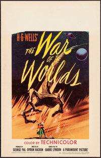 """The War of the Worlds (Paramount, 1953). Very Fine. Window Card (14"""" X 22""""). Science Fiction"""