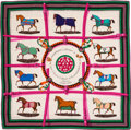 "Luxury Accessories:Accessories, Hermès 140cm ""Couvertures et Tenues de Jour"" Cashmere & Silk Scarf. Condition: 1. 55"" Width x 55"" Length. ..."
