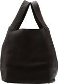 Luxury Accessories:Bags, Hermès Graphite Clemence Leather Picotin GM Bag with Pall...