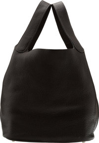Hermès Graphite Clemence Leather Picotin GM Bag with Palladium Hardware K Square, 2007 Condition: