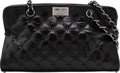 """Luxury Accessories:Bags, Chanel Black Quilted Patent Leather Shoulder Bag. Condition: 1. 12"""" Width x 7"""" Height x 3.5"""" Depth. ..."""