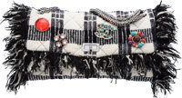 """Chanel Black & White Tweed Jumbo Reissue Flap Bag with Charms Condition: 2 15"""" Width x 8"""" Height"""