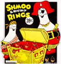 Premiums:Radio, Li'l Abner Shmoo Ring Display (Al Capp/United Features Syndicate, 1950)....